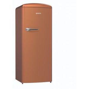 Réfrigérateur GORENJE ORB153CR 254 litres dont congélateur 25 litres, classe A+++, cuivre
