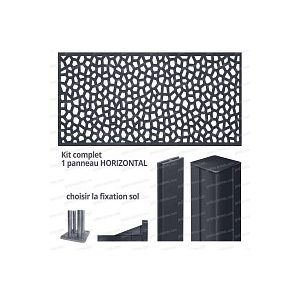 Kit Panneau décoratif MOSAIC horizontal 2m x 1m en résine haute qualité