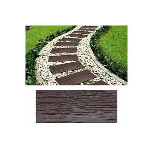 Dalle extérieure imitation bois - Caoutchouc recyclé 25x60cm