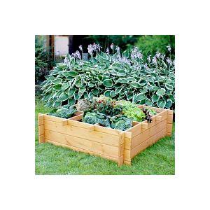 Grand carré potager en bois 119x119cm - Haut.35cm