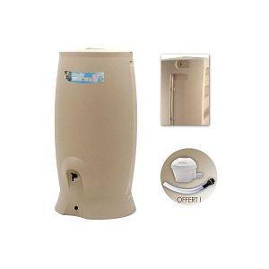 Récupérateur eau de pluie 1000L - Beige