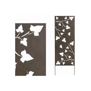 Panneau décoratif FEUILLES 0.6m x 1.5m métal