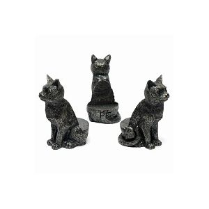 Porte plante Support pot de fleurs - CHAT assis - Lot de 3