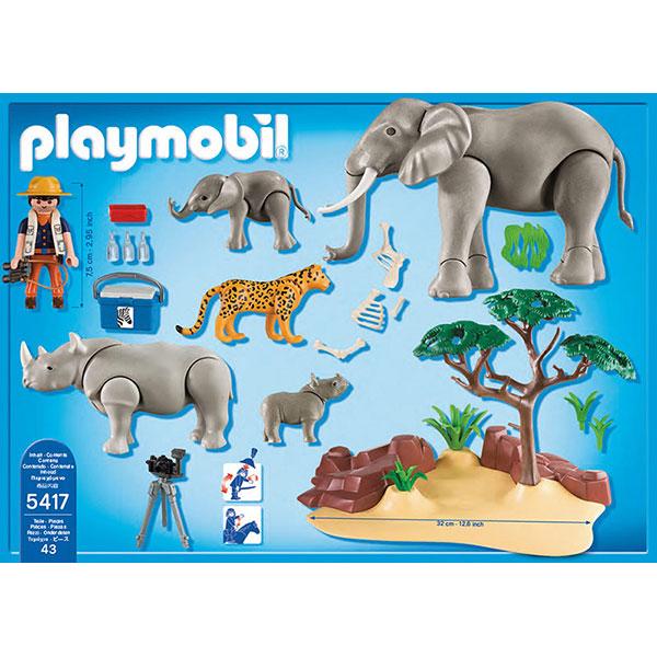Playmobil 5417 wild life animaux de la savane avec photographe comparer avec - Playmobile savane ...