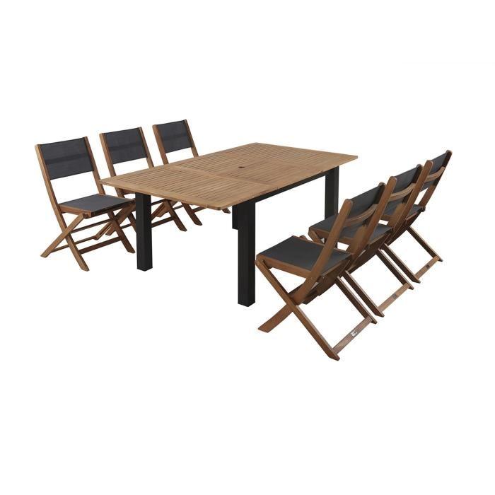Finlandek Heimo Ensemble Table Extensible De Jardin 6 Chaises