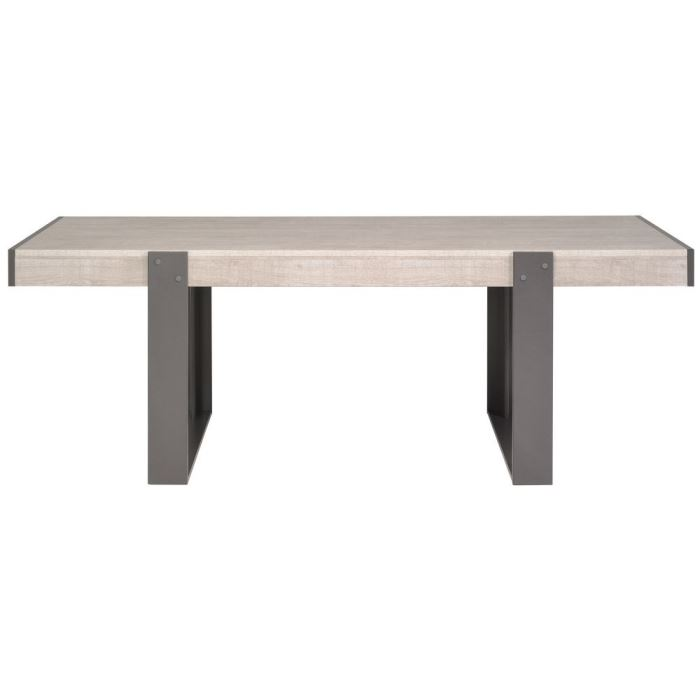 Parisot table manger moderne loft en ch ne comparer avec for Prix table a manger