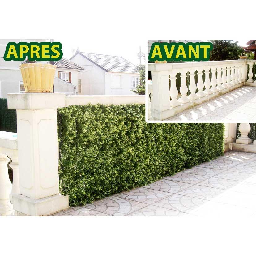 euro castor green haie de sapin clipsable en pvc 1 m comparer avec. Black Bedroom Furniture Sets. Home Design Ideas