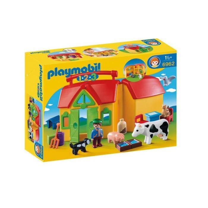 playmobil 6962 ferme transportable 1 2 3 comparer avec. Black Bedroom Furniture Sets. Home Design Ideas