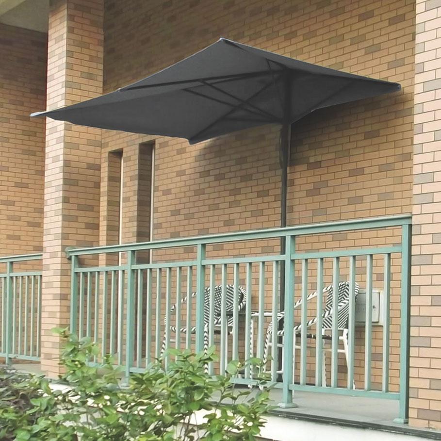 parasol d port de balcon rectangulaire 250 x 150 cm a. Black Bedroom Furniture Sets. Home Design Ideas