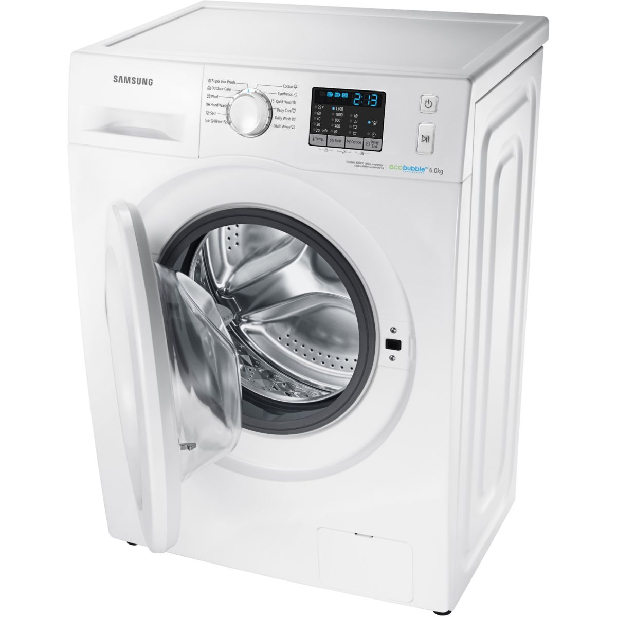 samsung wf60f4e0w2w lave linge frontal eco bubble 6 kg comparer avec. Black Bedroom Furniture Sets. Home Design Ideas