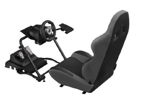 bigben si ge baquet avec support volant levier de vitesse. Black Bedroom Furniture Sets. Home Design Ideas