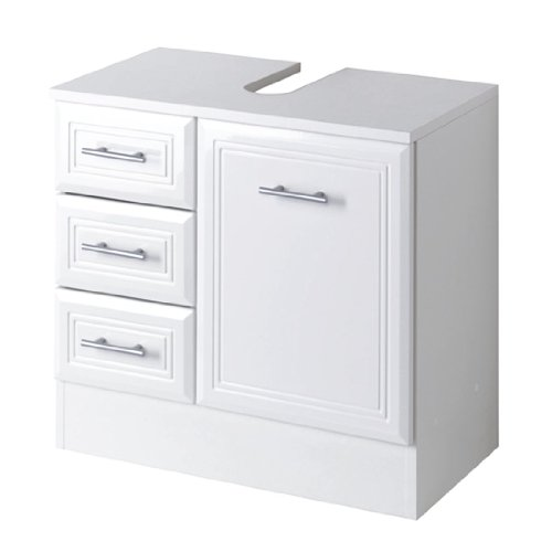 Held m bel meuble sous lavabo neapel 1 porte 3 tiroirs comparer avec - Mobile sottolavabo bagno ikea ...
