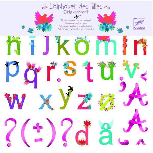 djeco sticker l 39 alphabet des filles comparer avec. Black Bedroom Furniture Sets. Home Design Ideas