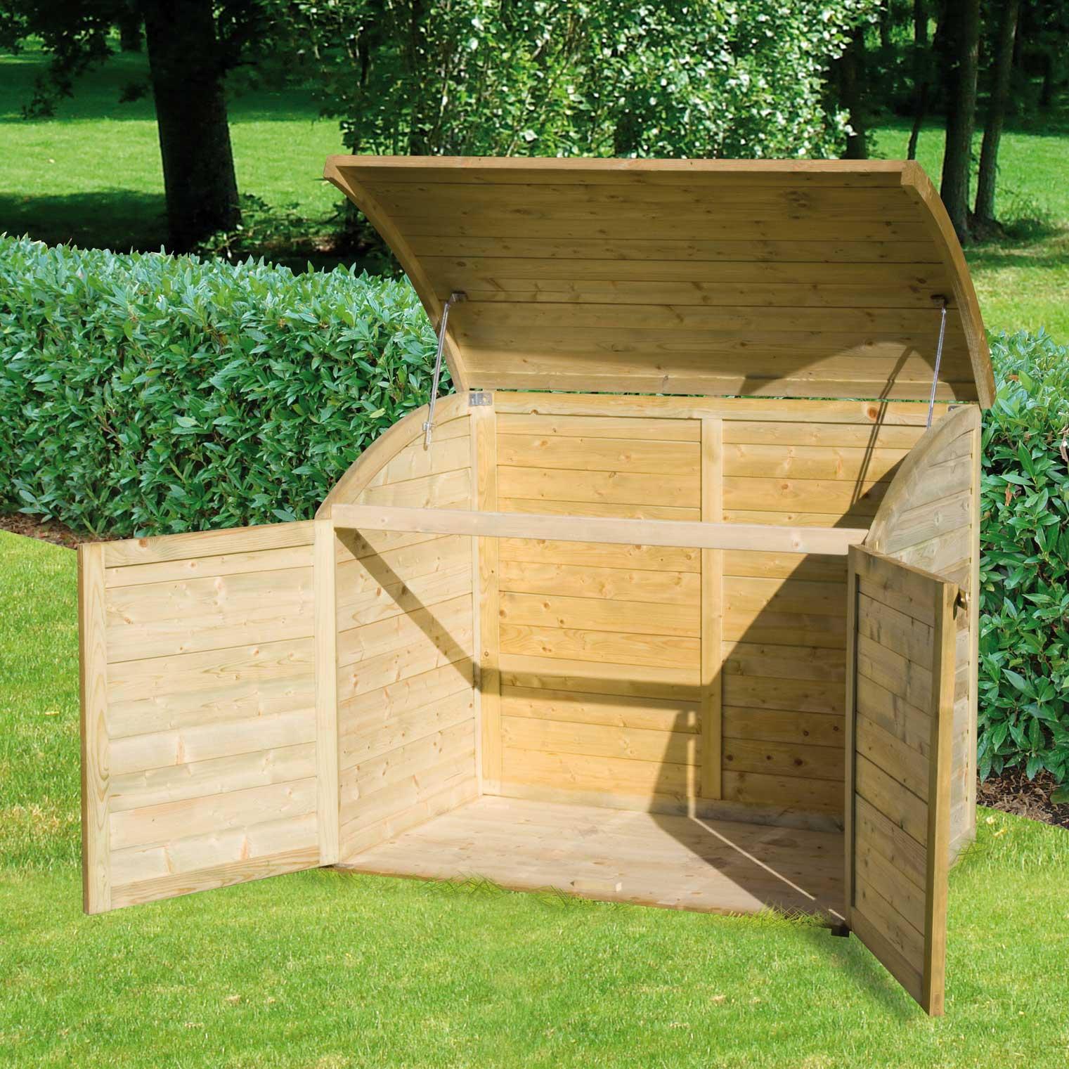 Chalet et Jardin Coffre de jardin Topaze en bois 900 L - Comparer ...