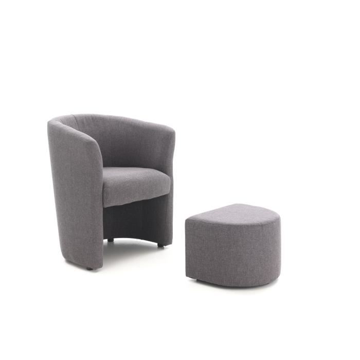 fauteuil cabriolet baya avec pouf comparer avec. Black Bedroom Furniture Sets. Home Design Ideas