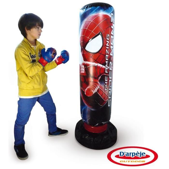 d 39 arp je punching ball sonore avec des gants spiderman comparer avec. Black Bedroom Furniture Sets. Home Design Ideas