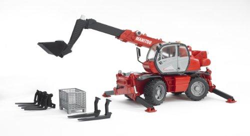 Bruder Toys 2129 - Manitou télescopique MRT 2150 avec accessoires ... 43e387fd8c52