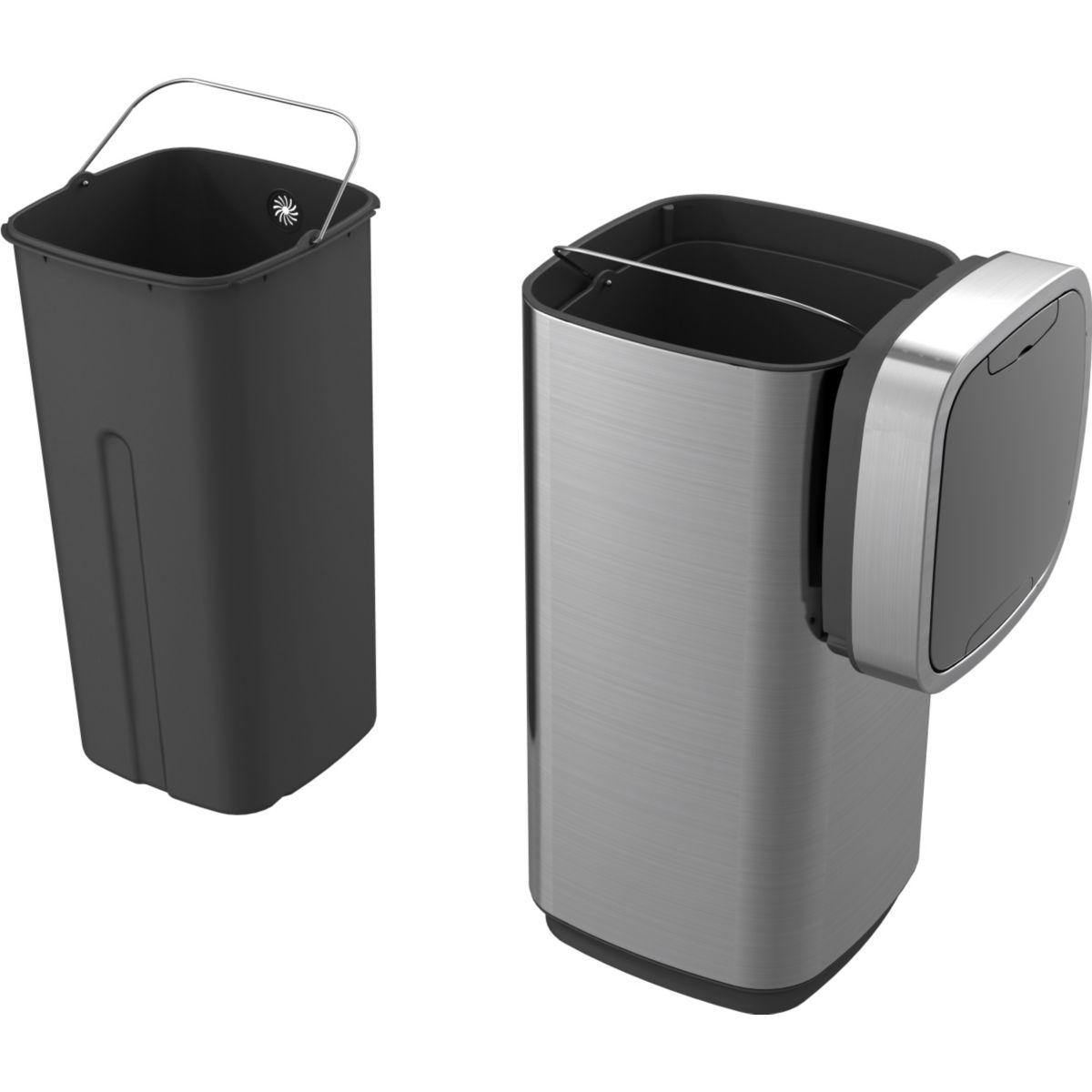 Essentielb 1013561 poubelle automatique 40 l for Habitat poubelle cuisine