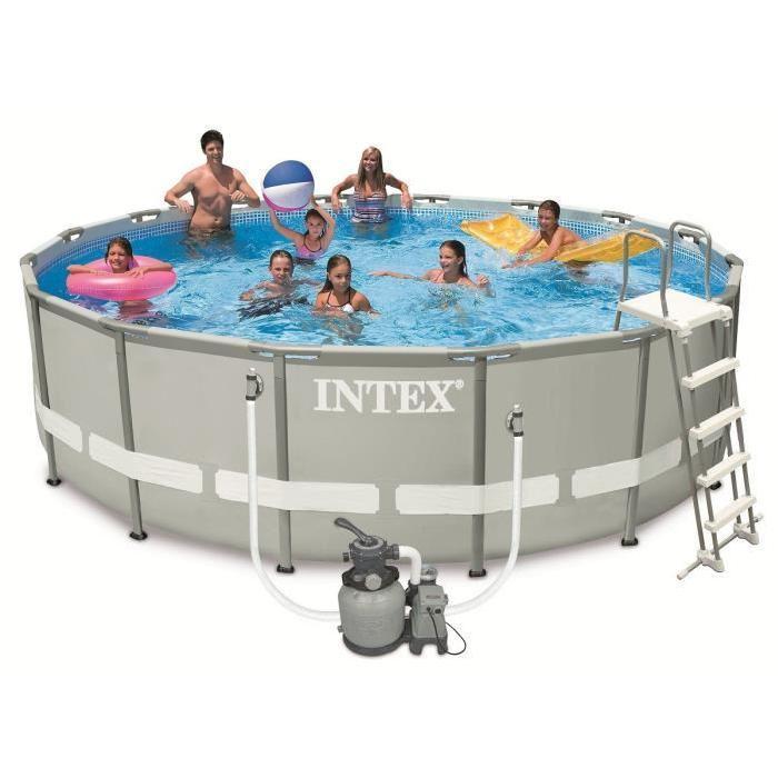 intex 54924fr piscine tubulaire ronde 4 88 x1 22 m comparer avec. Black Bedroom Furniture Sets. Home Design Ideas