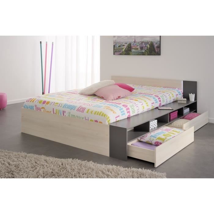 swithome write lit adulte avec tiroirs 140 x 190 200 cm comparer avec. Black Bedroom Furniture Sets. Home Design Ideas
