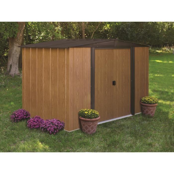Chalet et jardin bm 86 abri de jardin en m tal aspect for Chalet de jardin prix