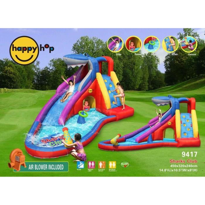 Elegant Gallery Of Happy Hop Aire De Jeux Gonflable Requins Club Comparer Avec With  Jeux De Piscine Gonflable Idees De Conception