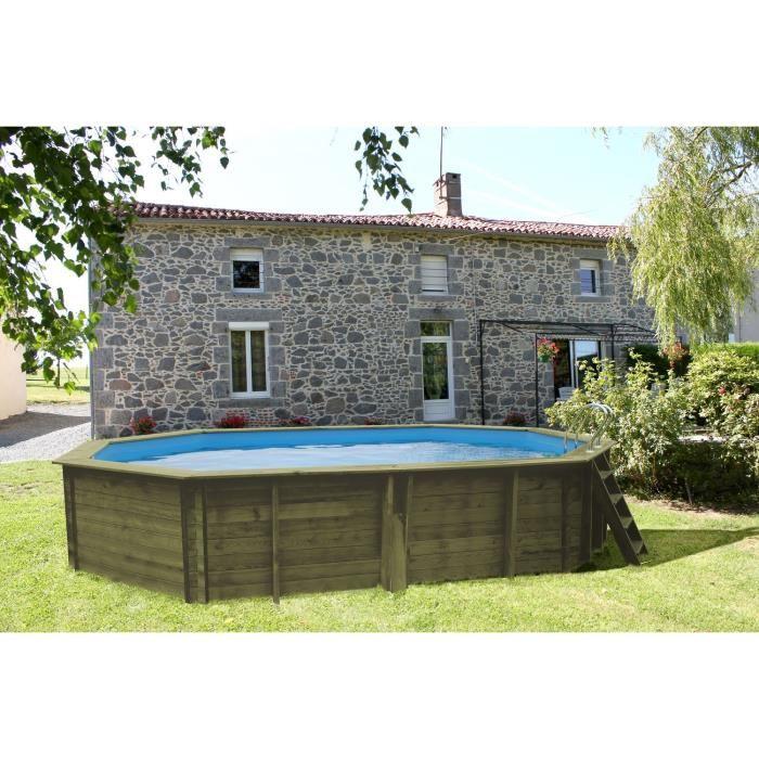 Sunbay 783606 piscine ovale hors sol en bois 551 x 351 x for Piscine hors sol 4 57x1 22 m