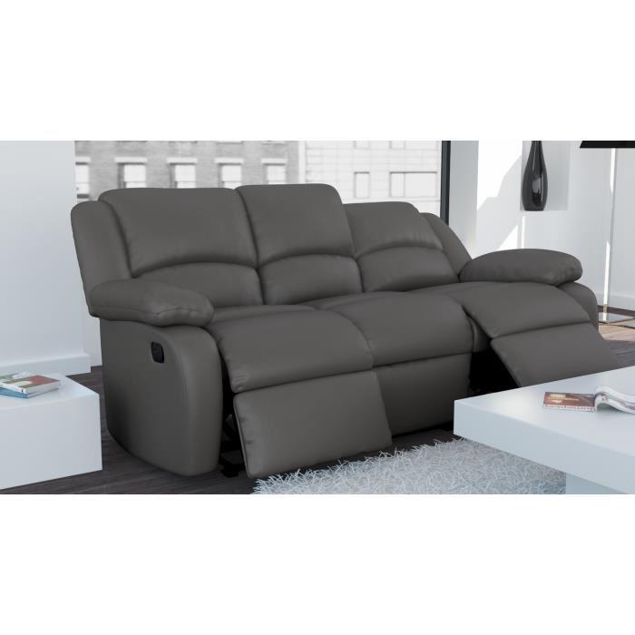 Canapé Relax Places En Cuir Comparer Avec Touslesprixcom - Canapé relaxation cuir