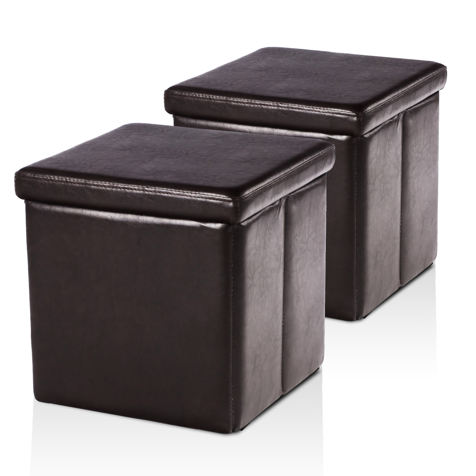 lot de 2 poufs coffre de rangement jazz comparer avec. Black Bedroom Furniture Sets. Home Design Ideas