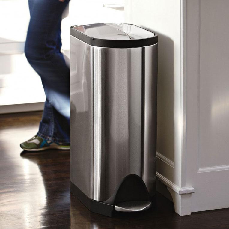 simplehuman poubelle p dale papillon en acier 30 l. Black Bedroom Furniture Sets. Home Design Ideas