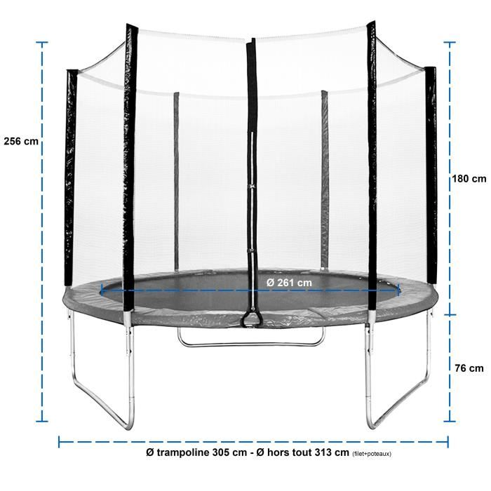 kangui maxi eco trampoline 305 cm avec chelle. Black Bedroom Furniture Sets. Home Design Ideas