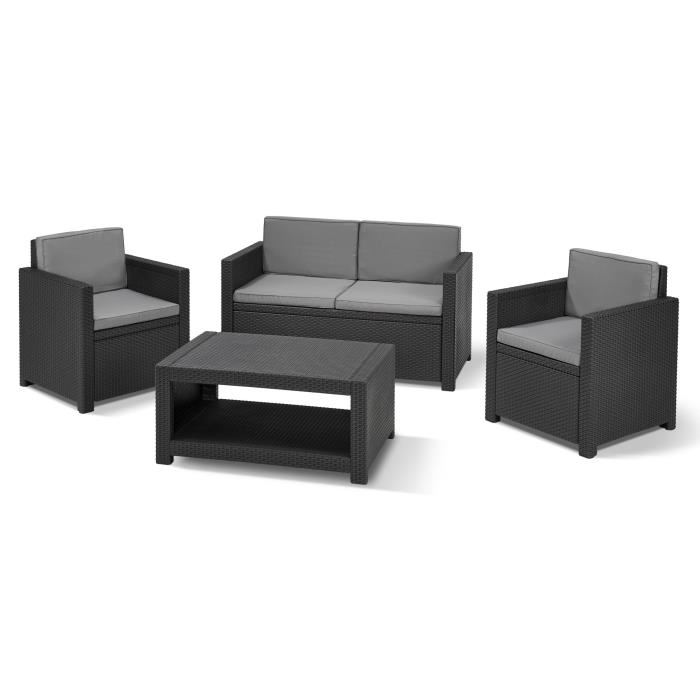 allibert monaco salon de jardin aspect rotin tress. Black Bedroom Furniture Sets. Home Design Ideas