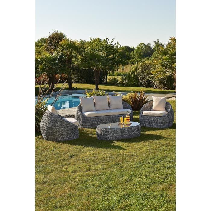 DCB Garden Salon de jardin Isa en résine tressée - Comparer avec ...