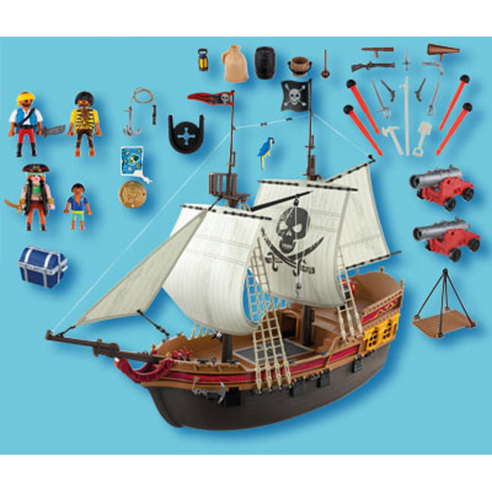 playmobil 5135 bateau d 39 attaque des pirates comparer avec. Black Bedroom Furniture Sets. Home Design Ideas