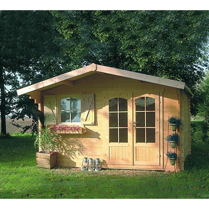Solid S8982 - Abri de jardin Chamonix 2 en bois 40 mm 10,99 m2 ...