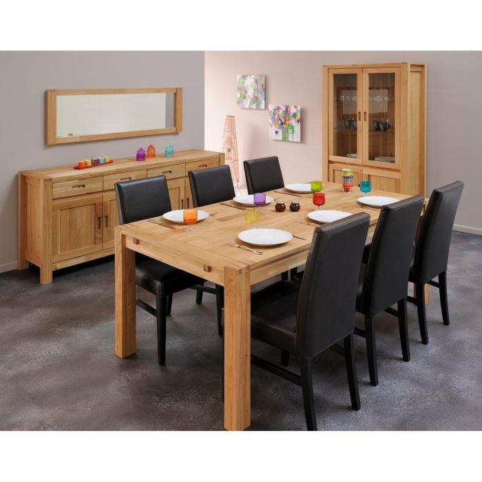 Enfilade nthan 4 portes et 4 tiroirs en ch ne comparer for Table en chene massif avec rallonges