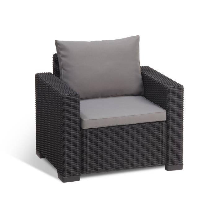 allibert salon de jardin california 5 places aspect rotin. Black Bedroom Furniture Sets. Home Design Ideas