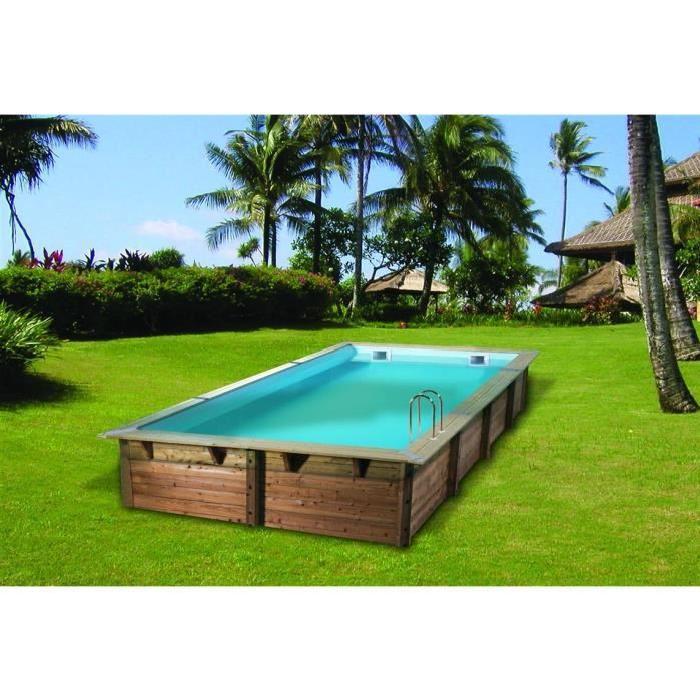 Ubbink Piscine Octogonale En Bois Sunwater 300x555xh140 Cm Liner
