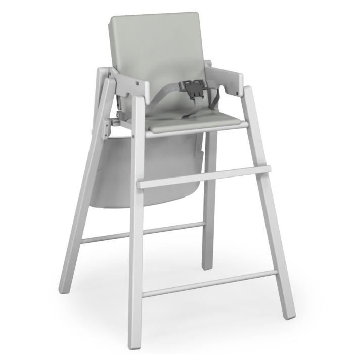 Ateliers T4 Chaise Haute Pliante En Hetre Avec Coussin PVC