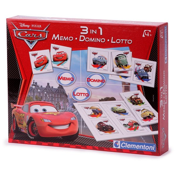 clementoni coffret jeux 3 en 1 cars 2 memo domino loto comparer avec. Black Bedroom Furniture Sets. Home Design Ideas