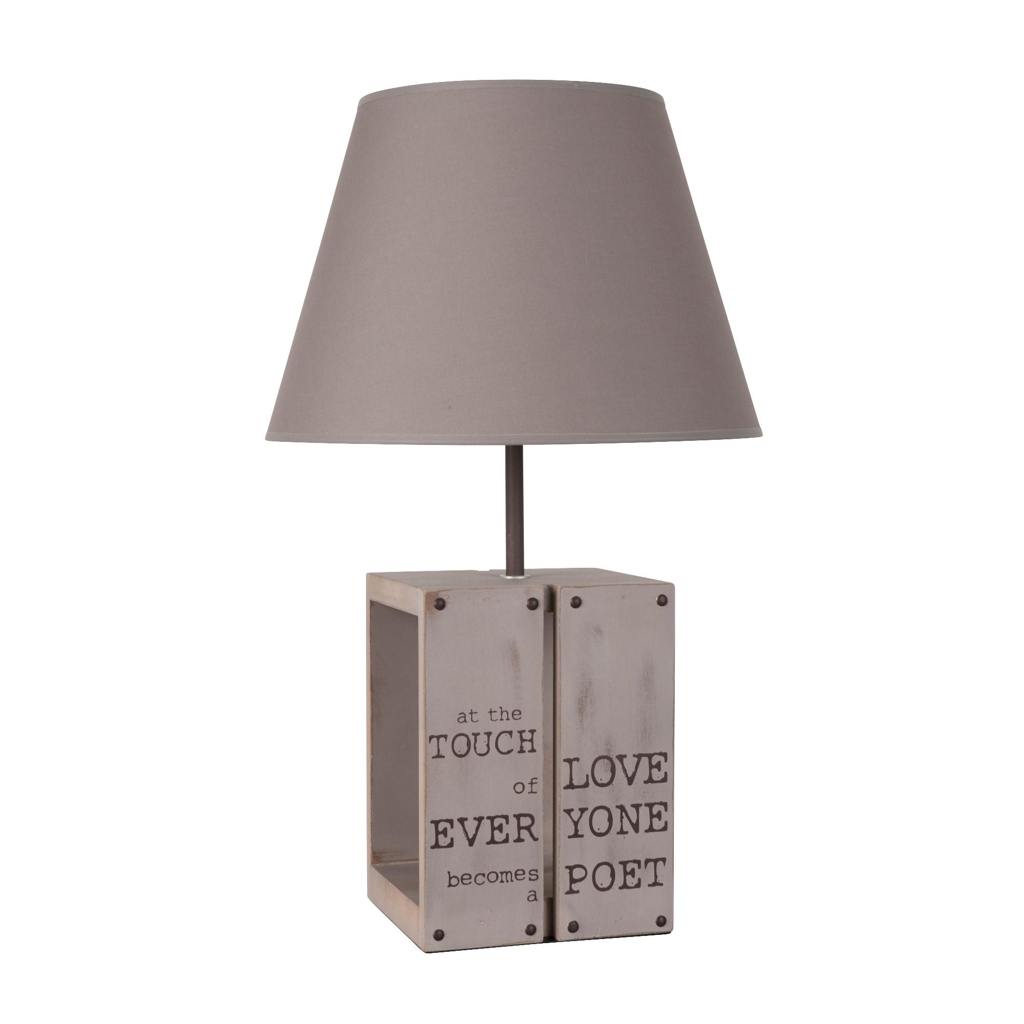 Palette À Corep Lampe Poser En Avec Abat Jour Cotongm 5jAR4L
