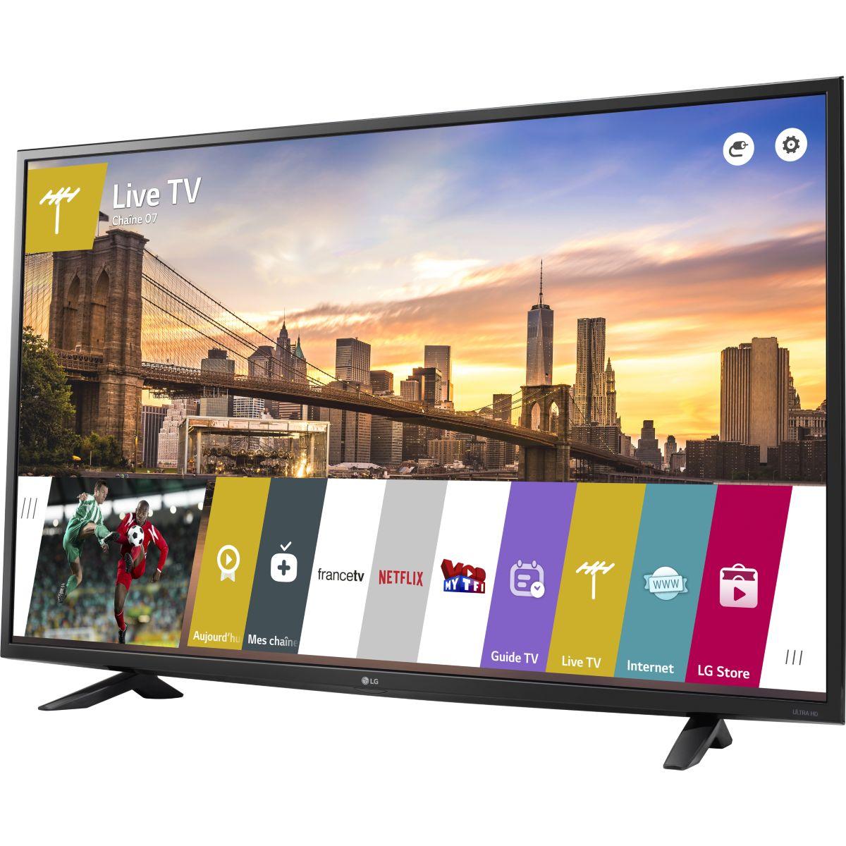 lg 49uf640v t l viseur led 4k 123 cm smart tv comparer avec. Black Bedroom Furniture Sets. Home Design Ideas