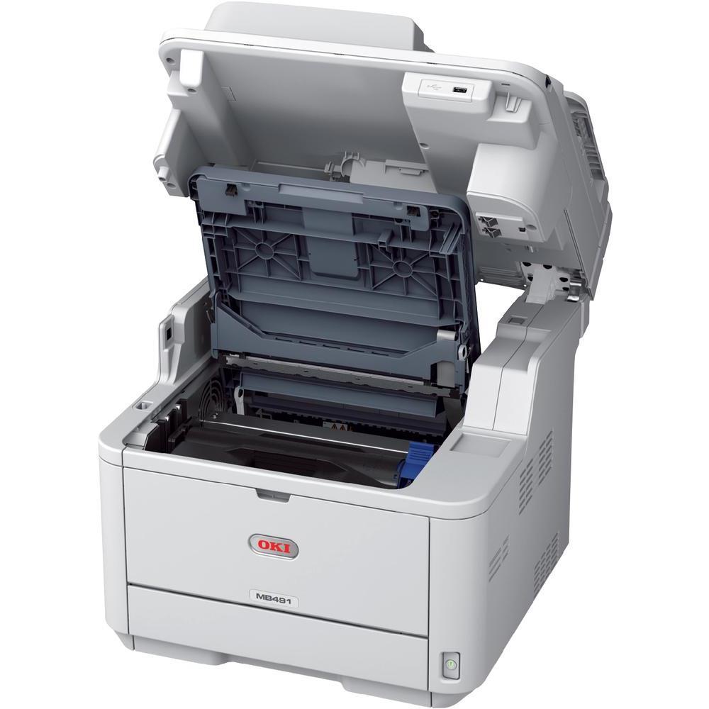 oki mb491 imprimante laser multifonctions fax comparer. Black Bedroom Furniture Sets. Home Design Ideas