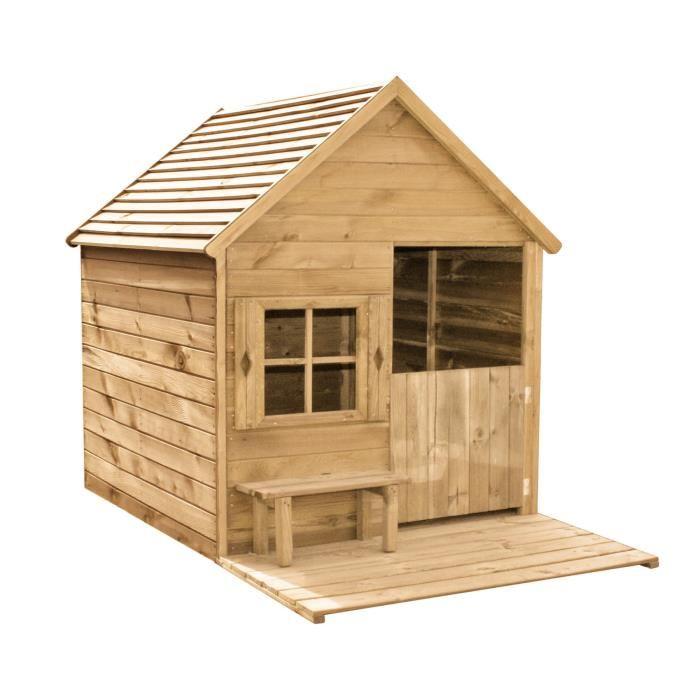 Forest style heidi maisonnette en bois pour enfant for Ma cabane en bois