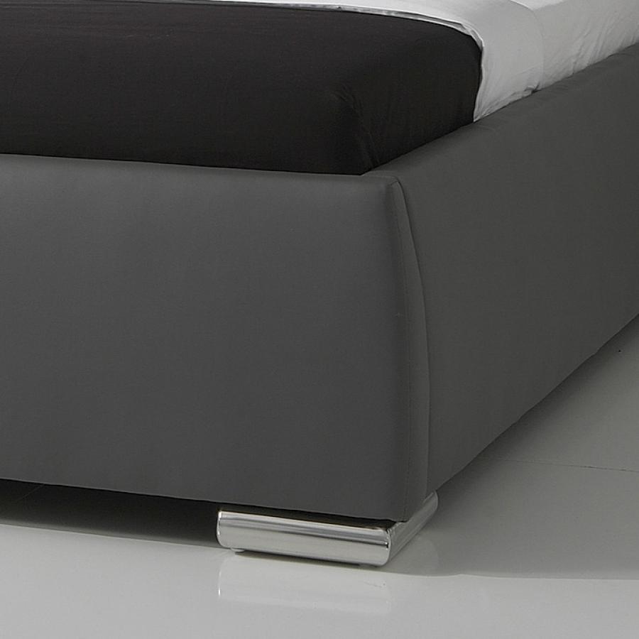 meise m bel lit rembourr clou avec t te de lit matelass e. Black Bedroom Furniture Sets. Home Design Ideas