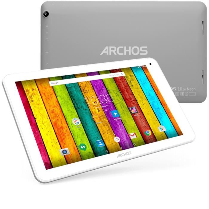 archos 101e neon 8 go tablette tactile 10 1 sous android 5 1 lollipop comparer avec. Black Bedroom Furniture Sets. Home Design Ideas