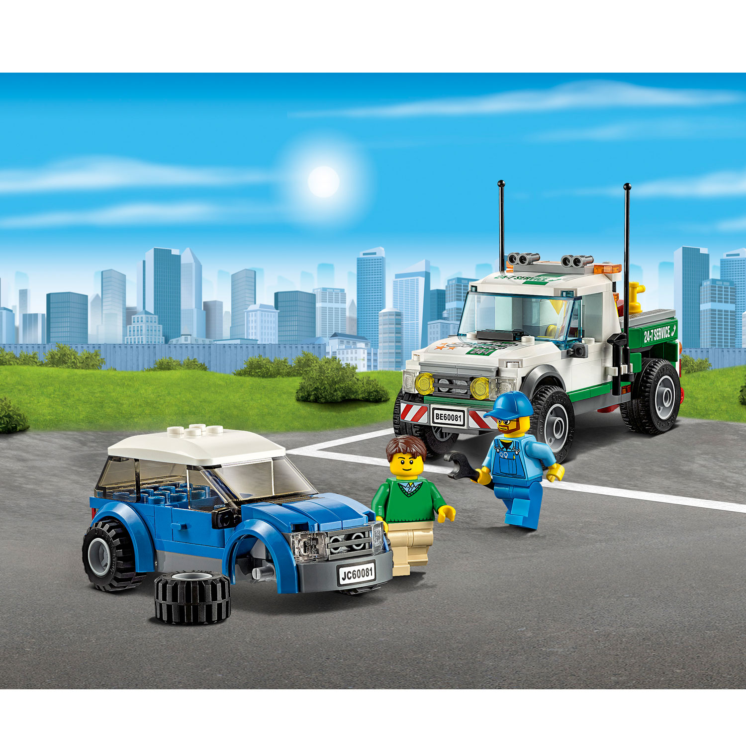 lego 60081 city great vehicles le pick up d panneuse comparer avec. Black Bedroom Furniture Sets. Home Design Ideas