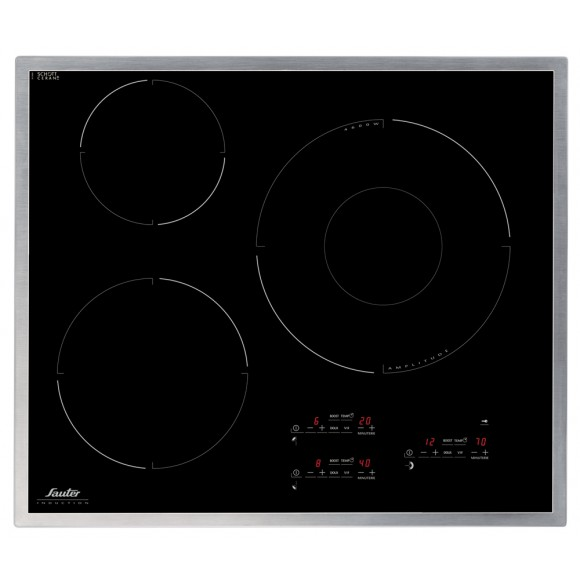 Sauter sti964 table de cuisson induction 3 foyers for Table a induction sauter