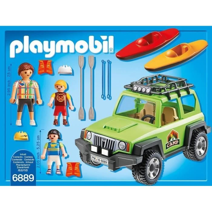 playmobil 6889 voiture tout terrain familiale avec kayaks comparer avec. Black Bedroom Furniture Sets. Home Design Ideas