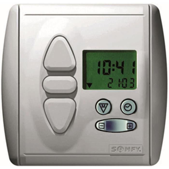 somfy 2400851 horloge radio rts pour volets comparer. Black Bedroom Furniture Sets. Home Design Ideas